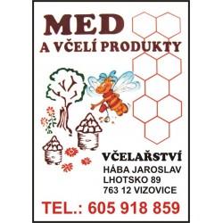 Prodej medu- Jaroslav Hába- okres Zlín